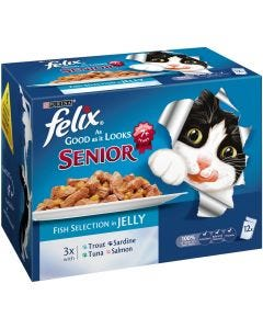 Felix As Good as it Looks Senior Fish Selection 12 Pack