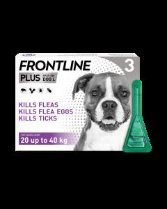 Frontline Plus Dog Large (20-40kg) 3pk