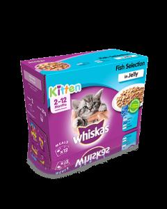 Whiskas 2-12 Months Kitten Fish Pouch 12 x 100G