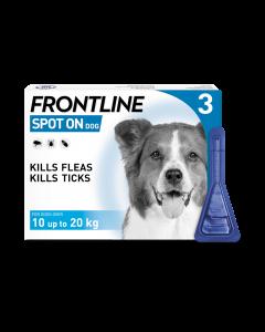 Frontline Spot On Medium Dog 10-20kg Pipette 3pk