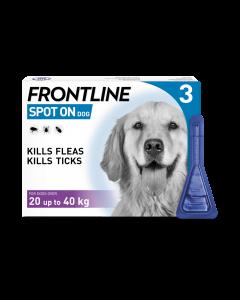 Frontline Spot On Large Dog 20-40kg Pipette 3pk