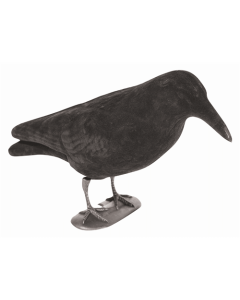 Flocked Crow Decoy