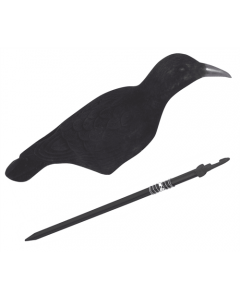 Flocked Crow Shell Decoy
