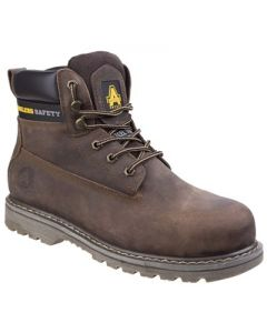 Lace Up Safety Boot Brown