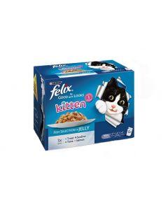 Felix 'As Good as it looks' Fish Selection Kitten Food
