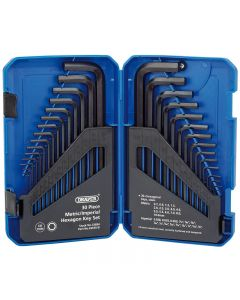 Draper Hexagon Key 30 Piece Set Metric/Imperial
