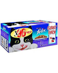 Felix Chunks in Jelly Mixed Pouch Selection 96 x 100g