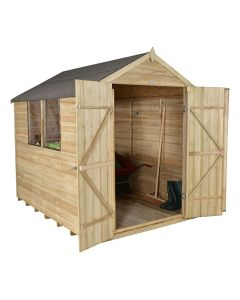 Forest Double Door Apex Shed - 6x8ft