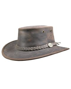 Barmah Broncho Leather Hat