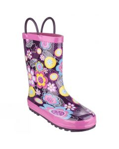 Cotswold Children's Puddle Boots- Flower Pattern