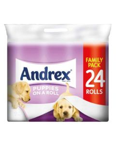 Andrex Puppies on a Roll Family Pack 24 Rolls