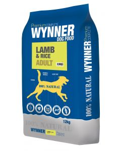 Premium Complete Wynner Dog Food Lamb & Rice Adult 12kg