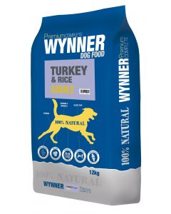 Premium Complete Wynner Dog Food Turkey & Rice Adult 12kg
