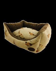 Beige Pheasant Dog Bed