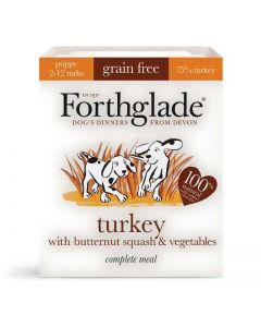 Forthglade Puppy Grain Free Turkey Dog Food Tray 395g