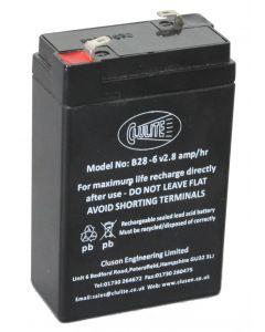 B28 6V 2.8AMP Battery