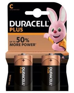 Duracell Plus Power C 2 Pack