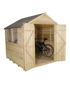 Forest Double Door Apex Shed - 7x7ft