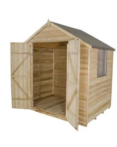 Forest Overlap Apex Shed - 7x5ft