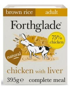 Forthglade Complete Chicken/Liver Tray 395g