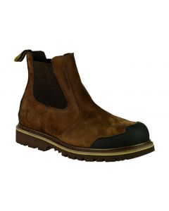 FS225 Brown Waterproof Nubuck Leather Dealer Boot