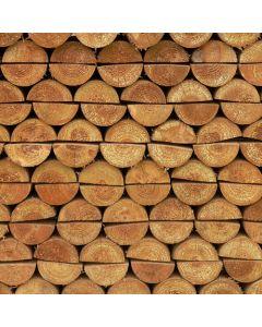 Woodbank Half Round Posts 6' x 4'