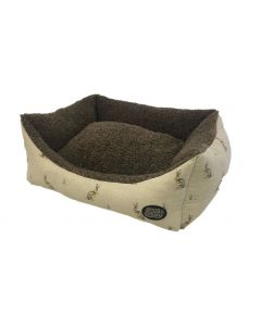Beige Hare Rectangle Dog Bed 42""