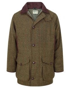 Harewood Tweed Shooting Coat Front View
