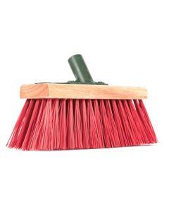 "Hills Yard Red PVC Broom 10"""