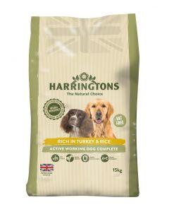 Harringtons Dog Active Worker Turkey 15kg