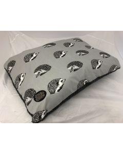 Grey Hedgehog Dog Lounger 90 x 60cm