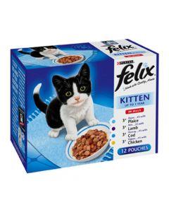 Felix Pouch Multi Kitten (Mixed) 12 x 100g