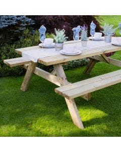 Forest Large Rectangular Picnic Table