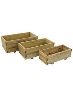 Durham Rectangular Planter Set