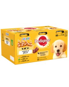 Puppy Meat in Jelly tins