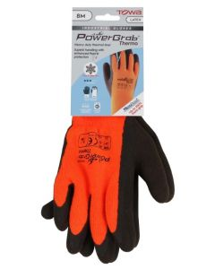 Towa 335 Powergrab Thermo Latex Palm Gloves Orange