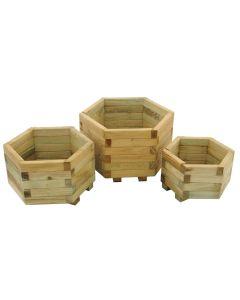 York Hexagonal Planter Set